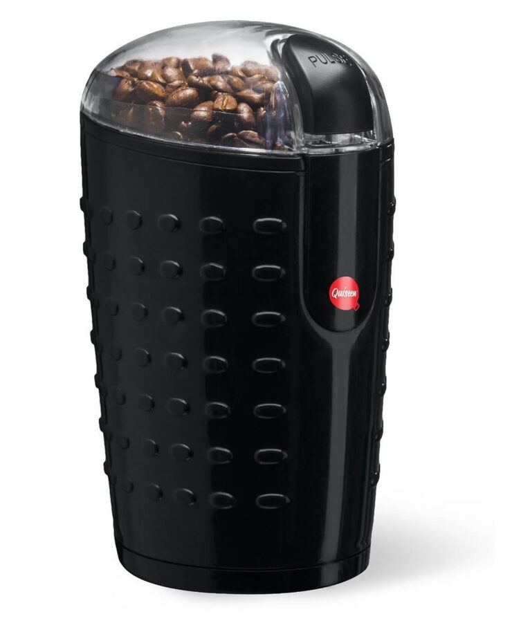 Quiseen One-Touch Electric Coffee Beans, Spices, Nuts Grinder
