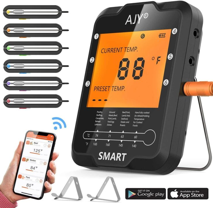 AJY BBQ Meat Grill Thermometer