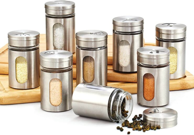 Cook N Home Windowed Spice Bottle Jar Set