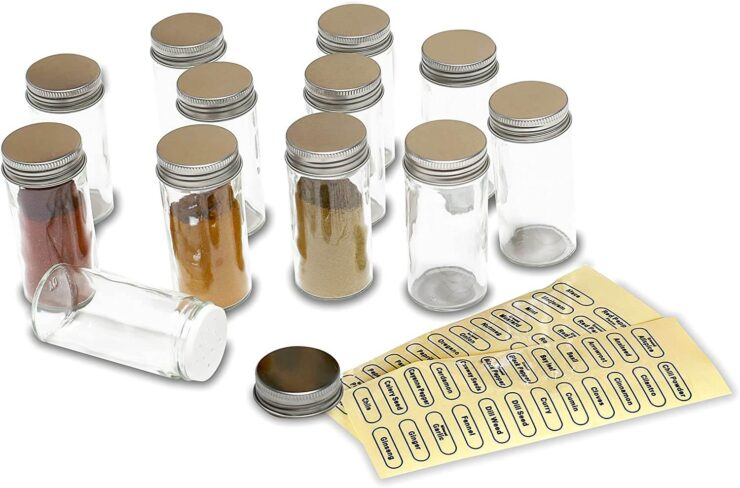 DecoBros Spice Bottles with Label Set