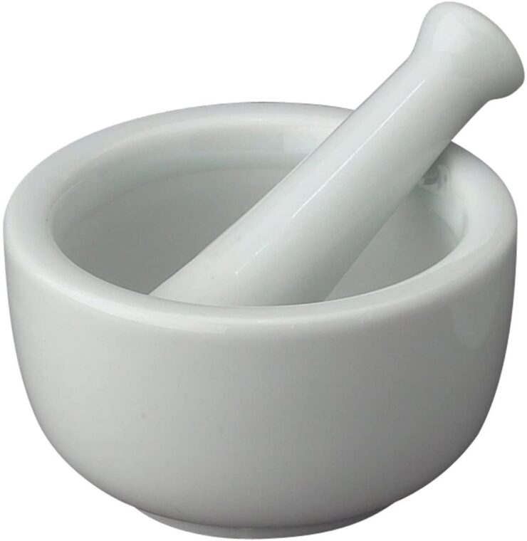 HIC Mortar and Pestle Spice Herb Grinder Pill Crusher Set