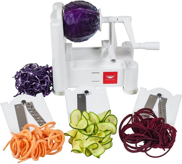 Paderno World Cuisine 3-Blade Vegetable Spiralizer