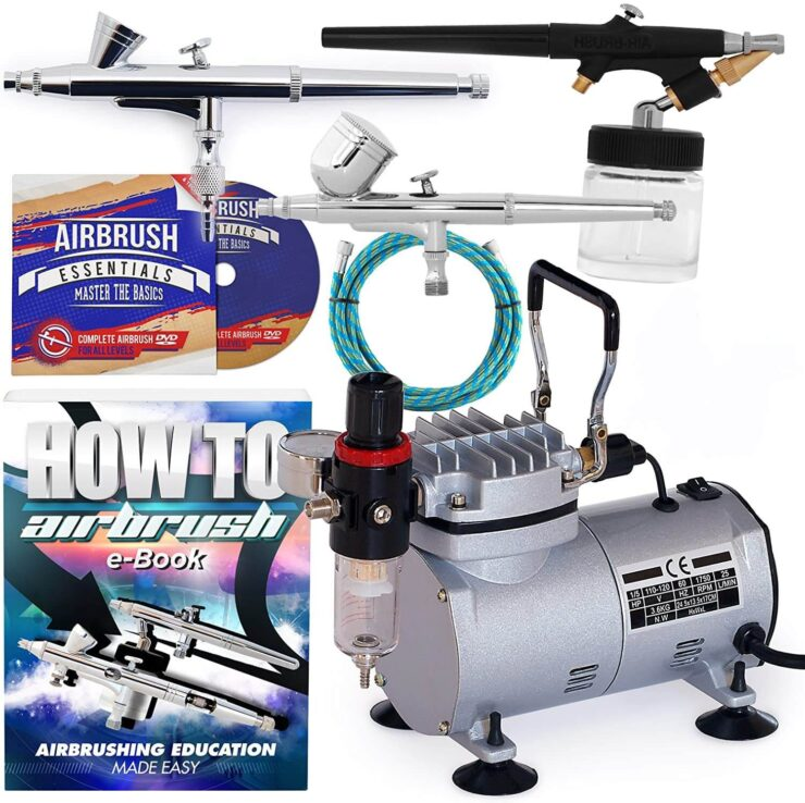 PointZero Airbrush Dual Action Airbrush Kit