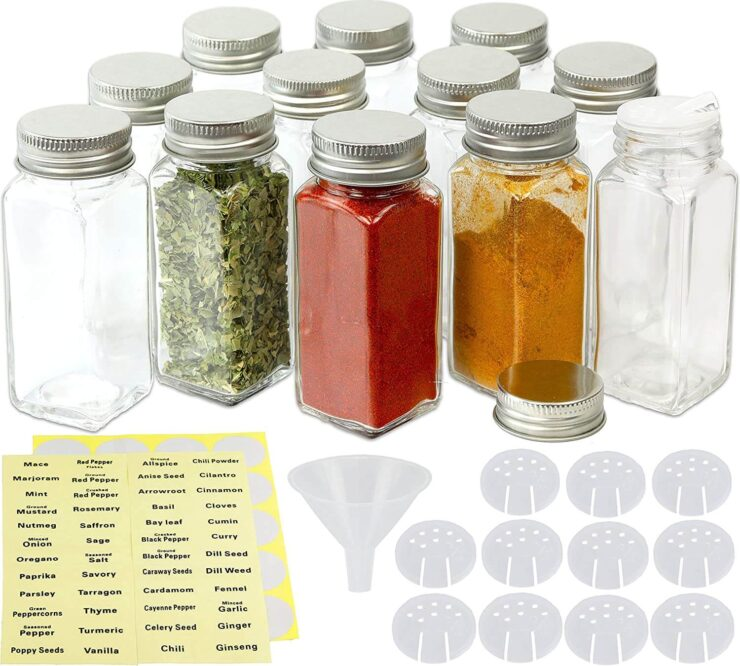 Simple Houseware Square Spice Bottles