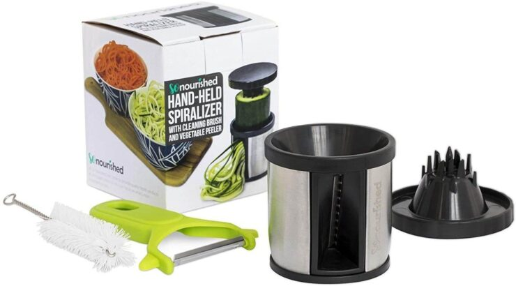So Nourished Hand-Held Spiralizer Vegetable Slicer