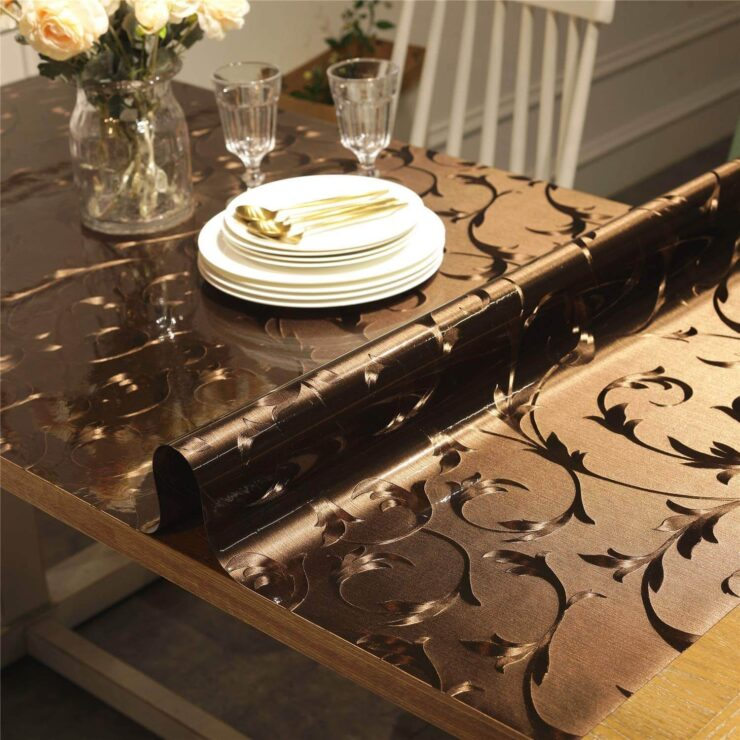 OstepDecor Custom Brown Table Cover Protector