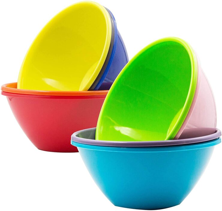 Youngever 32 Ounce Plastic Bowls