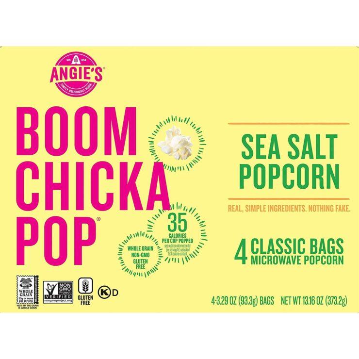 Angies BOOMCHICKAPOP Sea Salt Microwave Popcorn