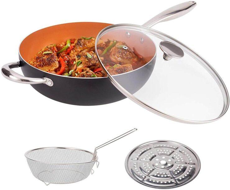 MICHELANGELO Stir Fry Pan