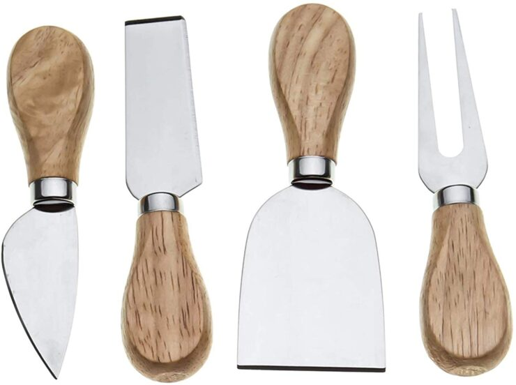 Bekith Cheese Knives with Bamboo Wood Handle