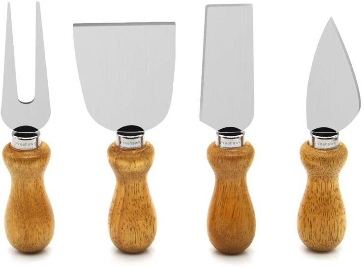 Freehawk Cheese Knife set with Cucurbit Handle