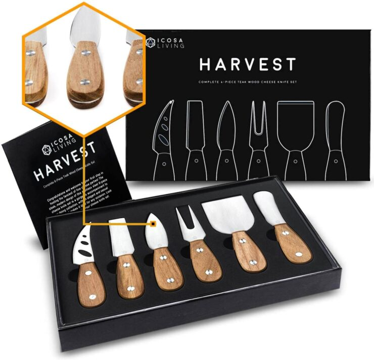 ICOSA Living HARVEST Premium Cheese Knife Set